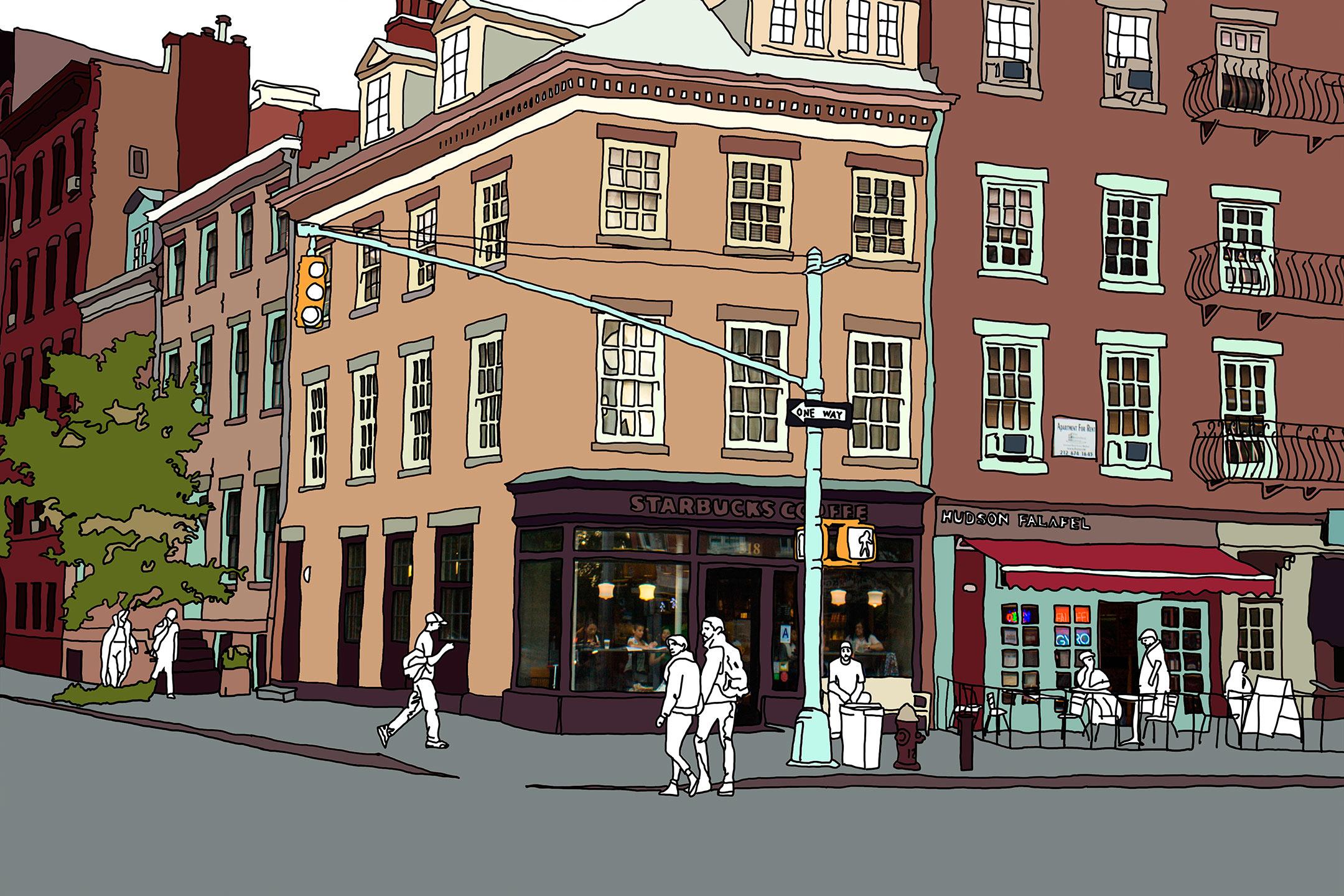 West Village Scene by Anastasia Parmson