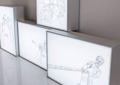 Ship Life series: light box drawings