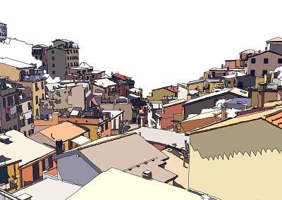 Roofs of Riomaggiore, 2015