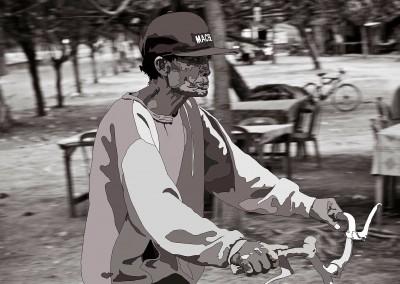 Untitled (Old Man on Bike), 2014