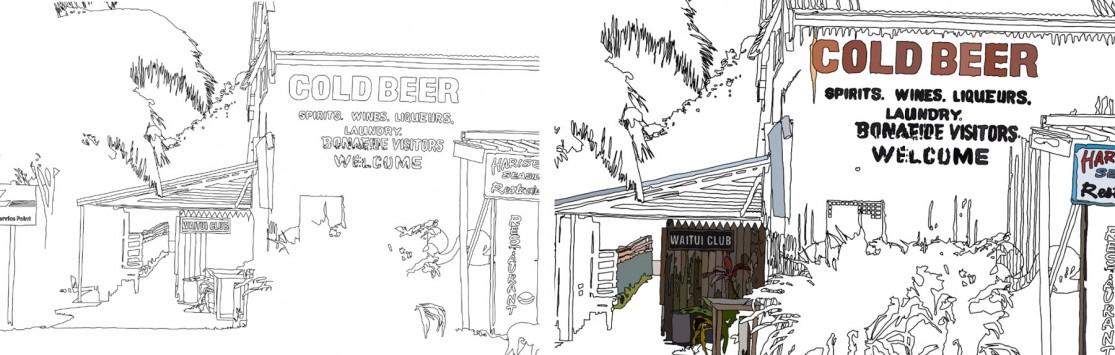drawing process of Fijian architecture