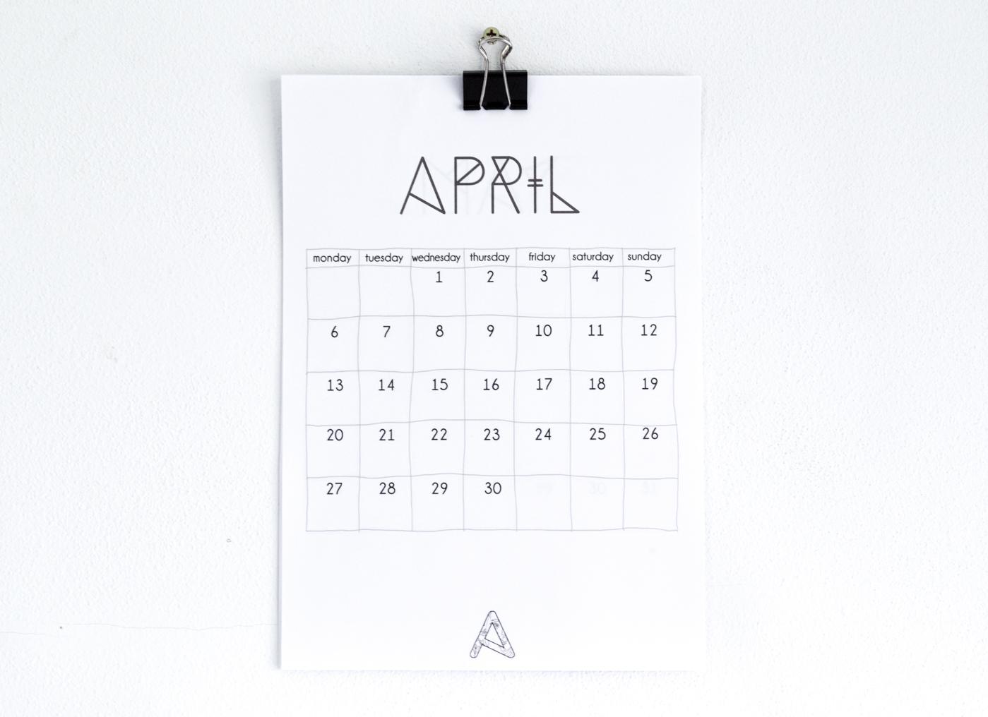 Minimalist Calendar 2016 : Downloadable minimalist calendar craftbnb