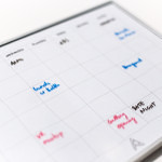 printable weekly calendar to use with whiteboard markers
