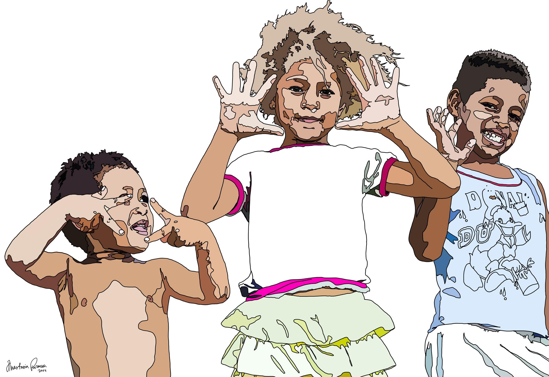 Kioa Island Kids by Anastasia Parmson