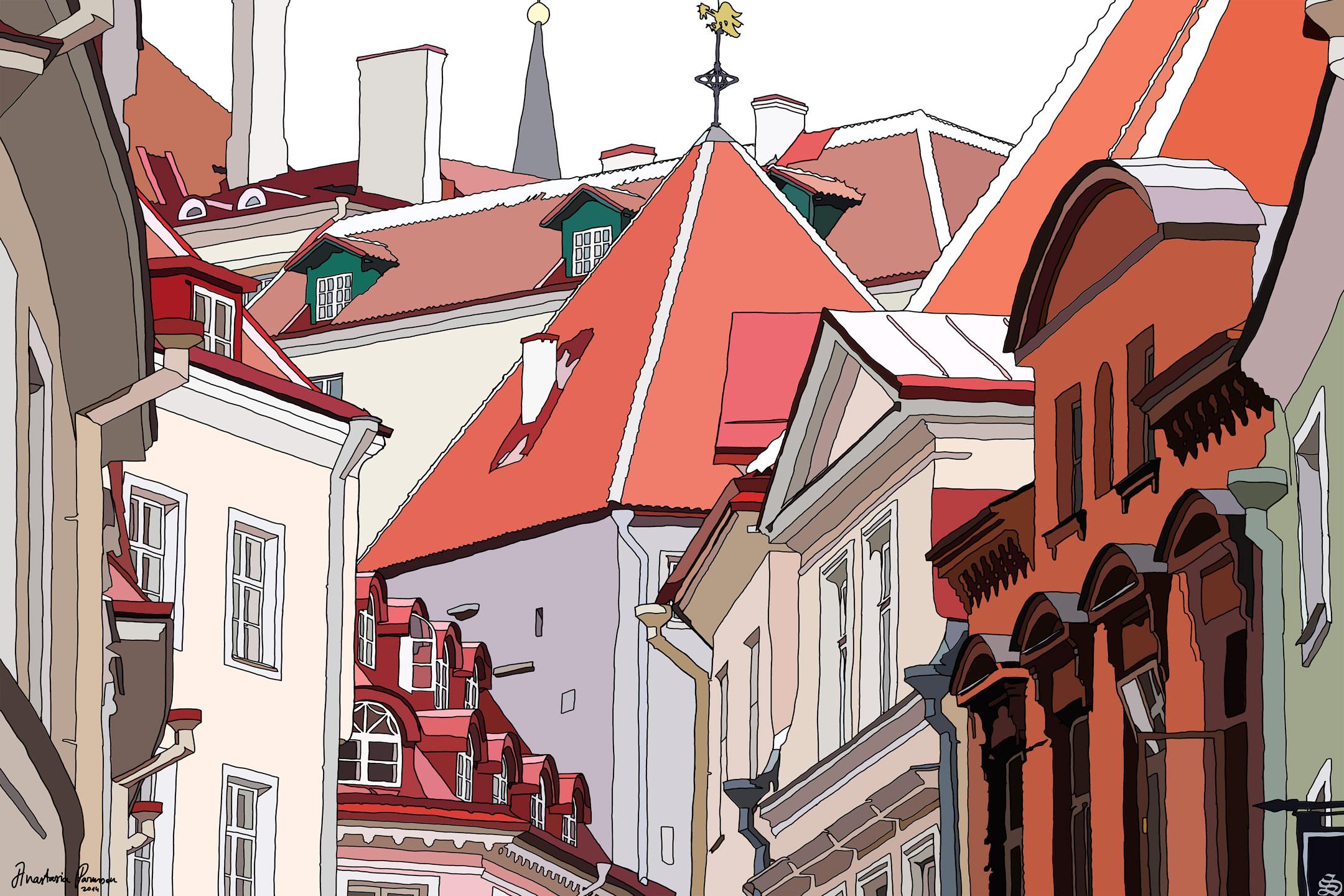 Roofs of Tallinn by Anastasia Parmson