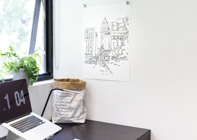 Poster of an original line drawing of New York State Court House