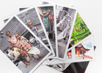 Nakasa Village Triptych prints on paper