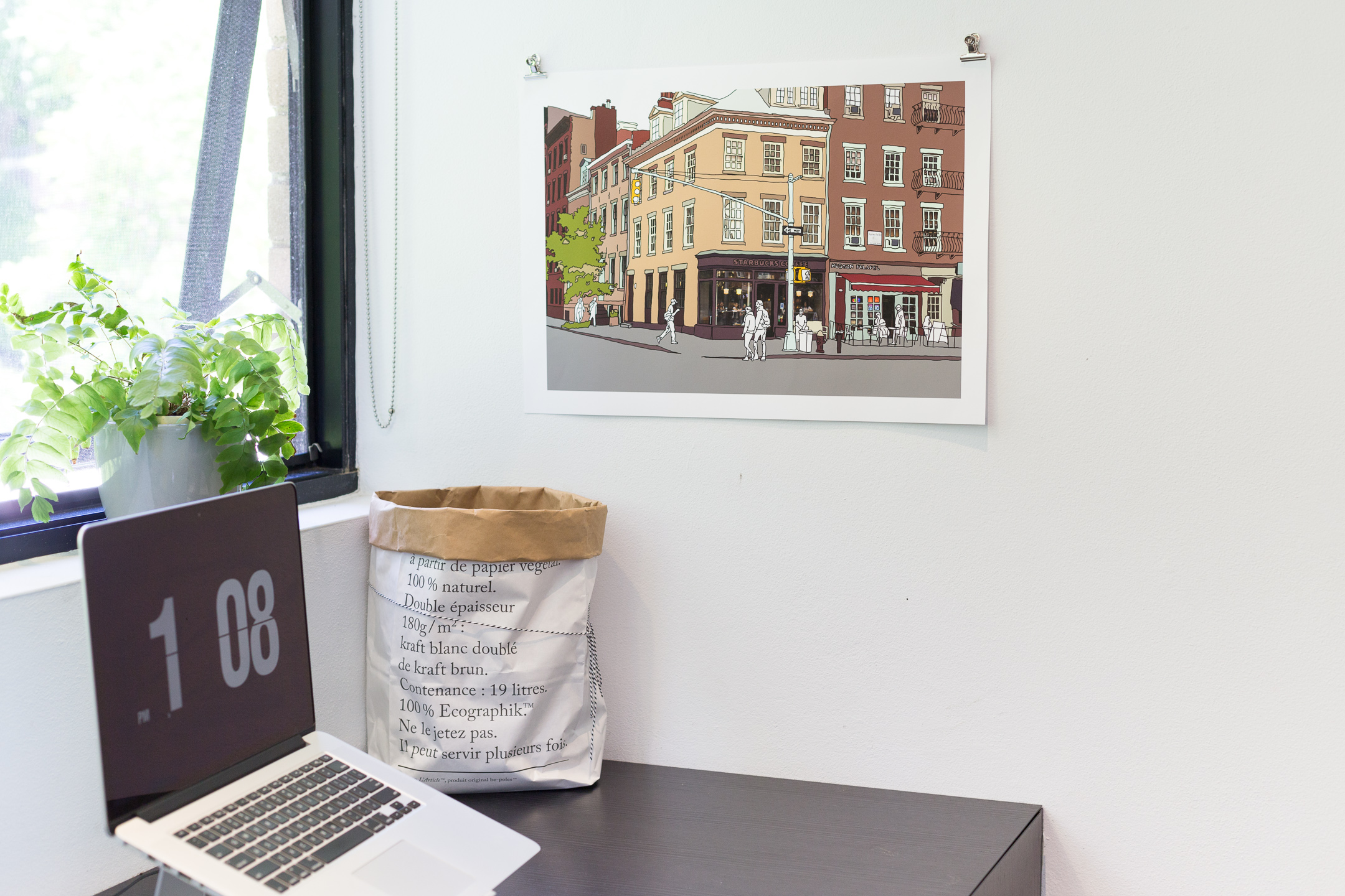 Poster of an original photo-drawing of New York West Village