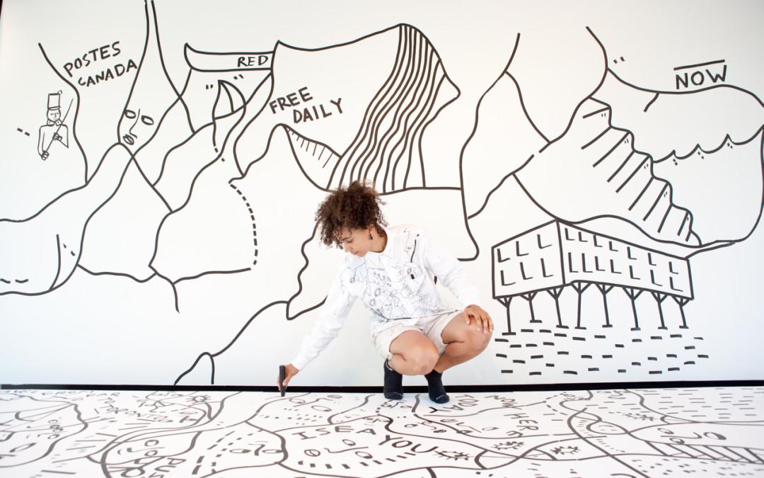 Q & A with artist Shantell Martin