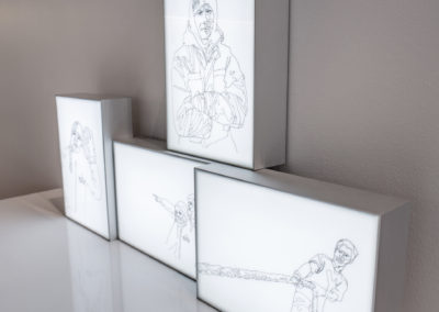 Ship Life series lightbox drawings