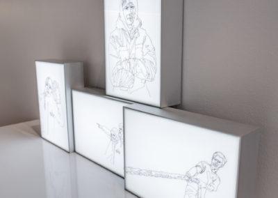 Ship Life series lightbox drawings