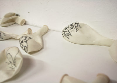 Balloonia, 2008 - drawing on balloons and audio (detail of a larger installation)
