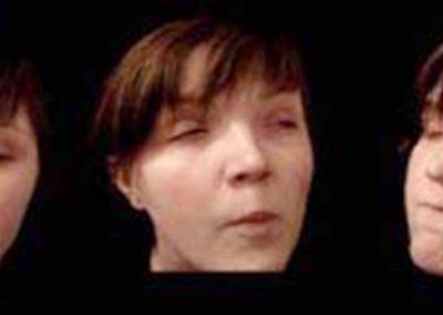 Between Me (screen shots of video projection)