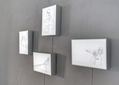 Ship Life series light box drawings