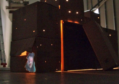 Depressionismus, 2008 - Cardboard boxes, light, video projection and sound