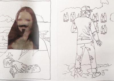 Retrospective Leporello, 2008-2009 (detail)