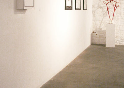 Strasbourg (I Don't Live Here Any More), 2009 - 3D drawing and polaroid-drawings at Apollonia gallery