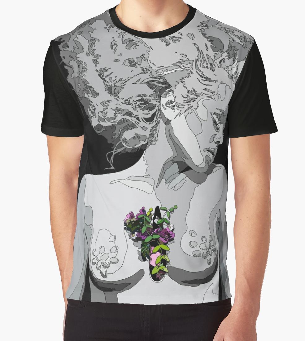 Kerli blossom graphic t shirt anastasia parmson for Graphic t shirt shop