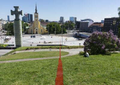 Sirgjoon (Straight Line / Le Fil Rouge) at Kilometre of Sculpture, Tallinn, 2017