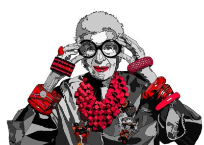 Untitled (Iris Apfel) - Awesome People Series, 2017