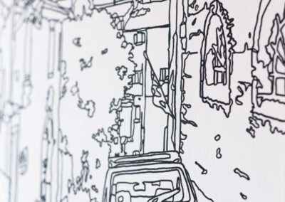 line drawing canvas art