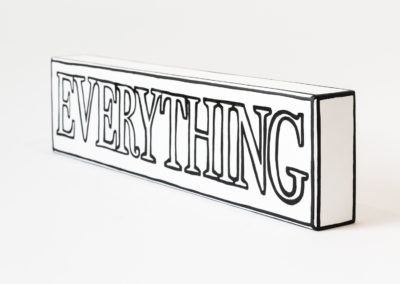 Untitled (Nothing is Everything), 2019 | 15 x 4'' | acrylic on board