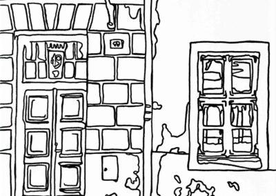 tallinn old town drawing