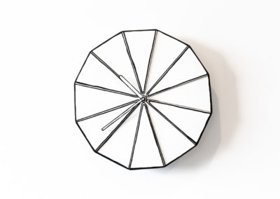 line drawing wall clock