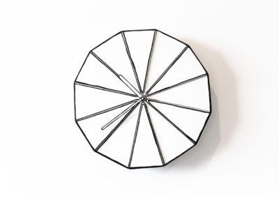 line drawing wall clock