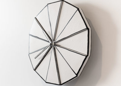 Stoneware wall clock, 2018 | 26cm diameter | 1AA battery